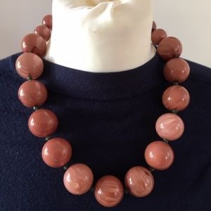 Brown necklace big beads
